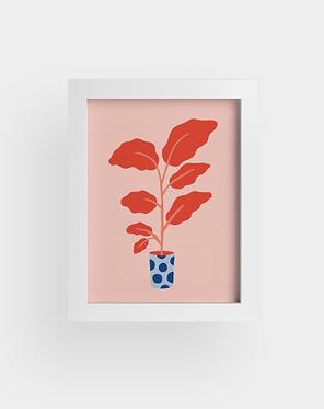 Petite plante rouge