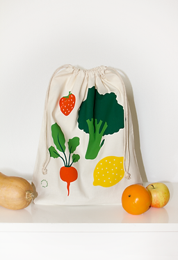 """Sac en coton """"Fruits et légumes"""""""