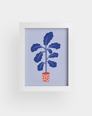 Petite plante violette