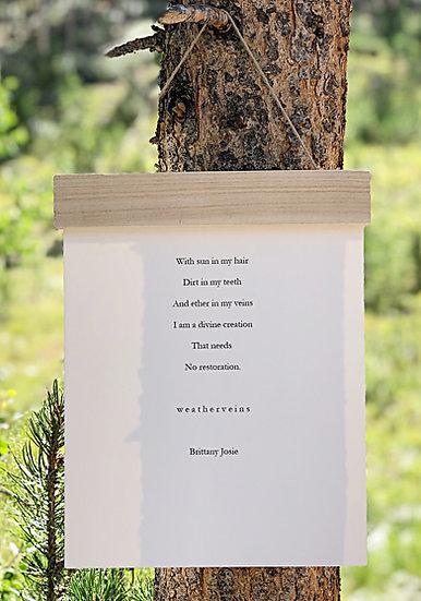 Wood Hanger Print