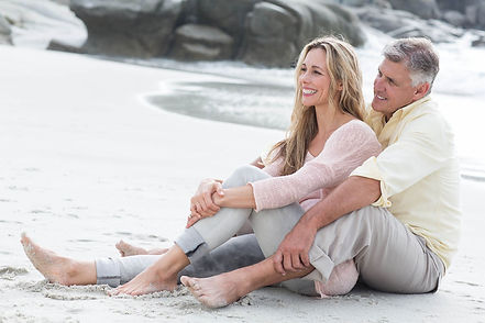 Brinkmann Center Happy couple on the beach after therapy