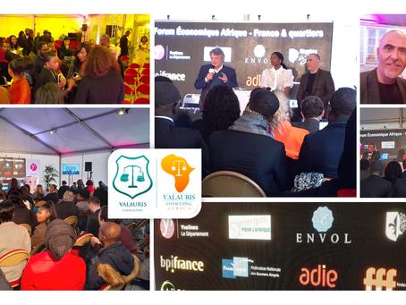 1ere édition du Forum Economique Afrique-France & Quartiers (Envol Afrique)