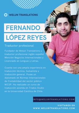 Fernando López, traductor profesional.