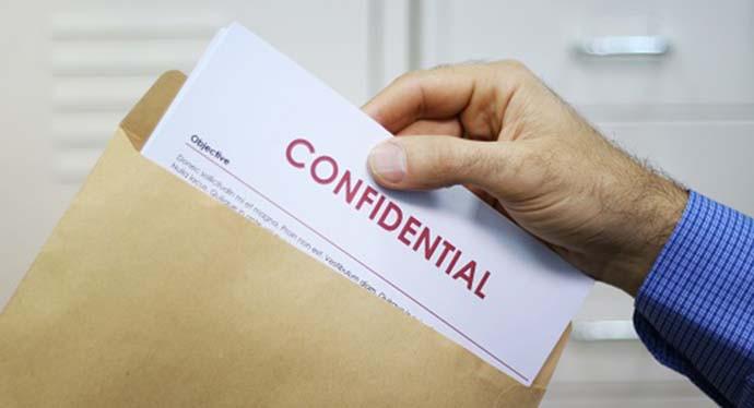 La traducción de documentos confidenciales