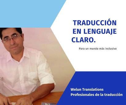 Traducción en lenguaje claro