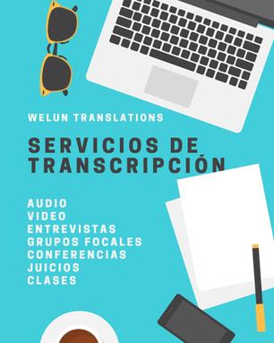 Servicio de transcripción