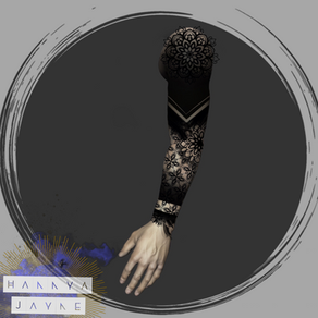 Blackwork & Mandala Tattoo sleeve Hannya