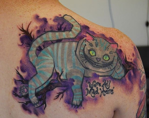 Pop culture, Cheshire Cat tattoo sketchy