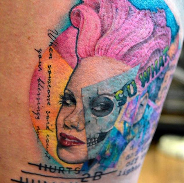 P!nk portrait pop culture tattoo pink ha