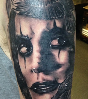 The Crow Pop Culture Tattoo Hannya Jayne