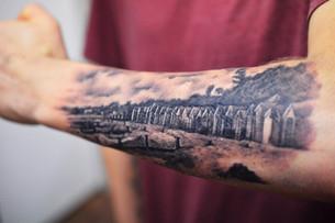 Black & Grey tattoo Hannya Jayne Exeter.