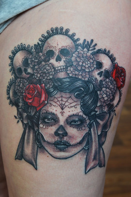 Day-of-the-Dead-tattoo-Mexican-folk-art-