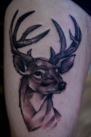 Stag head tattoo Hannya Jayne Exeter.jpg