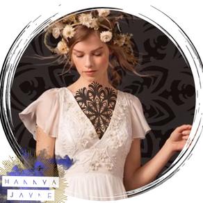 feminine chest tattoo ideas Hannya Jayne