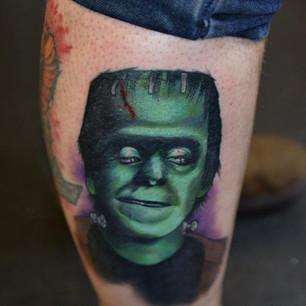 Herman Munster Pop Culture tattoo Hannya