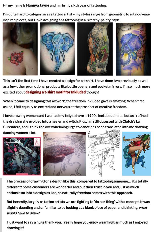 Hannya Jayne Tattoo artist
