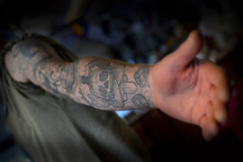 Skateboarding-car-sleeve-tattoo-Hannya-J