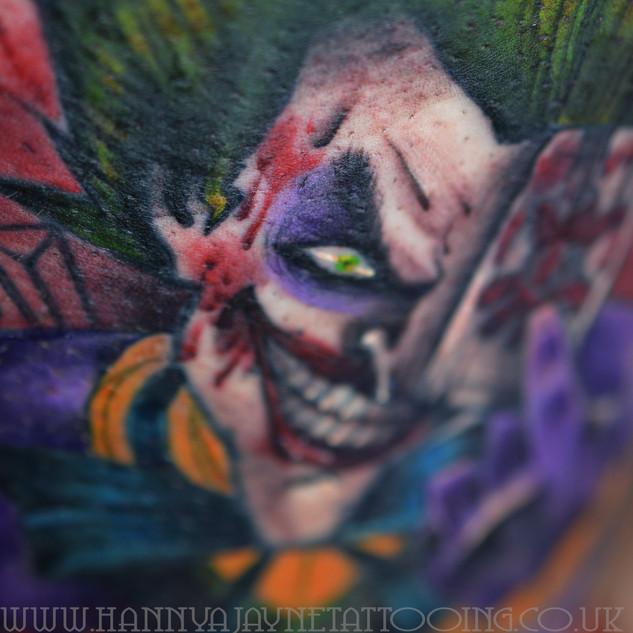 Joker tattoo avant garde Hannya Jayne.jp