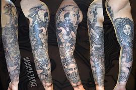 Black & Grey tattoo Sleeve