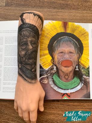 Portrait Tattoo Chief Raoni by Noble Savage Tattoo.jpg