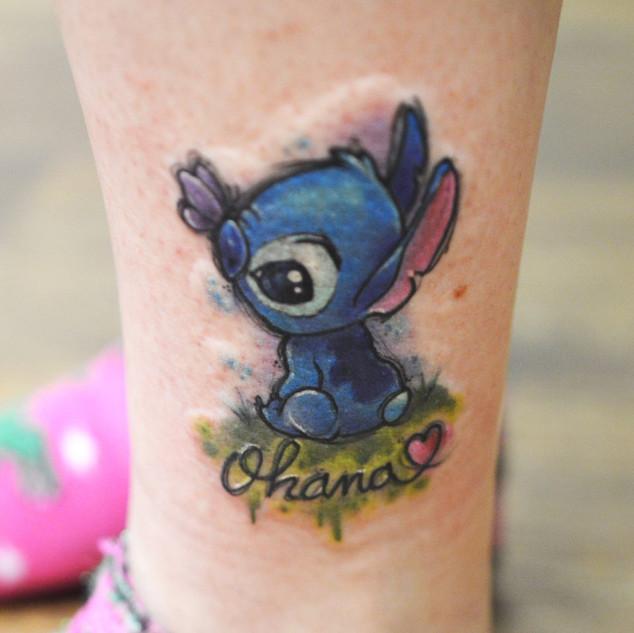 Pop Culture Disney tattoo Hannya Jayne E