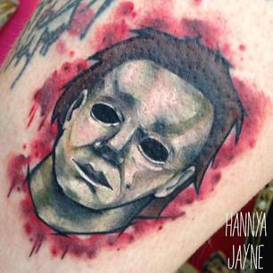 Sketchy pop culture tattoo Hannya Jayne.