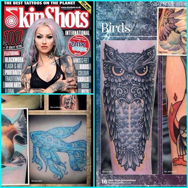 Tattoo Magazine Gallery, Exeter tattoo artist Hannya Jayne