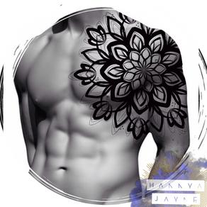 Brushstroke Mandala Tattoo Hannya Jayne.