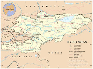 manas travel map of kyrgyzstan