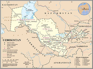 manas tavel map of uzbekistan