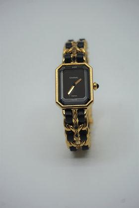 シャネル 腕時計 プルミエール QZ レディース ゴールド