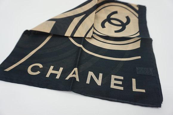 CHANEL スカーフ ブラック