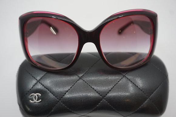 シャネル サングラス ロゴ レディース ピンク ブラック