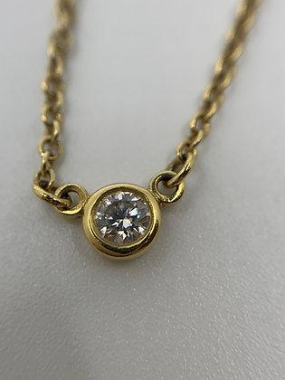 Tiffany&Co.  ティファニー バイザヤード ダイヤ K18 ネックレス