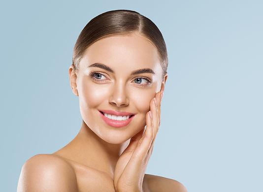 Woman beauty healthy teeth smile face he