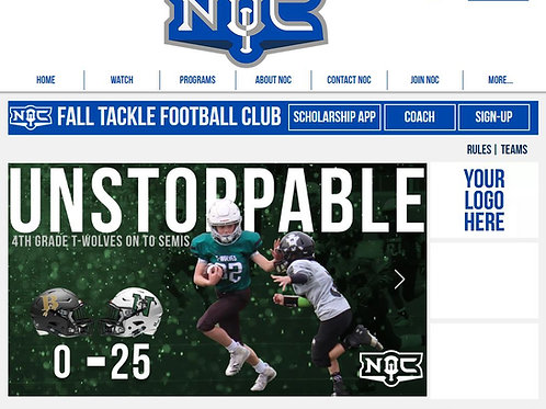 Tackle Football Web Sponsorship