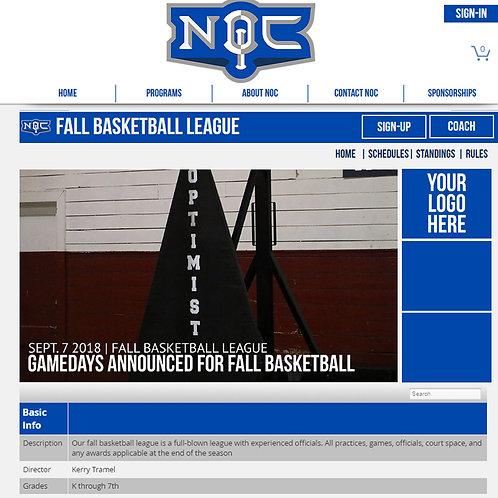 Basketball Web Sponsorship