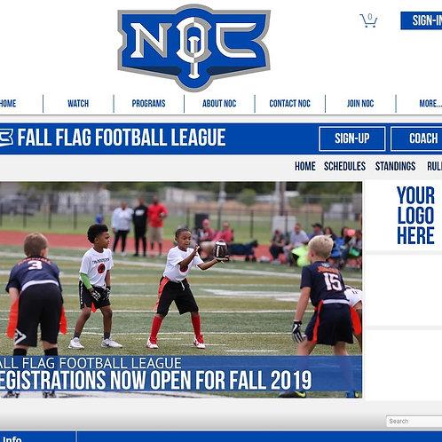 Flag Football Web Sponsorship
