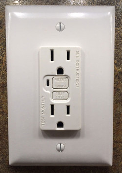 GFCI Outlet, Ground Fault Interrupter, AFCI, Arc Flash Circuit Interrupter