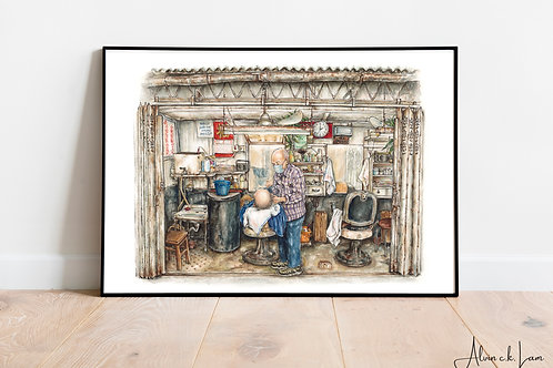 LIMITED PRINT | The Alleyway Barber