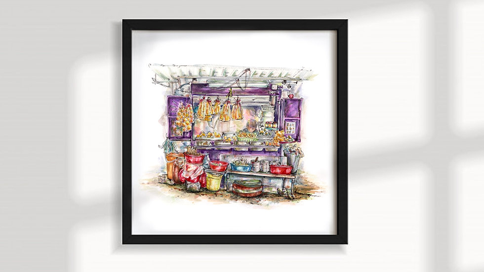 LIMITED PRINT   Poon's Bean Curd Stall