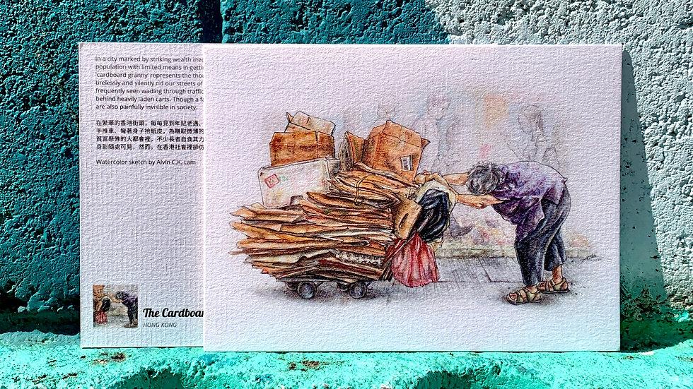 POSTCARD   The Cardboard Granny