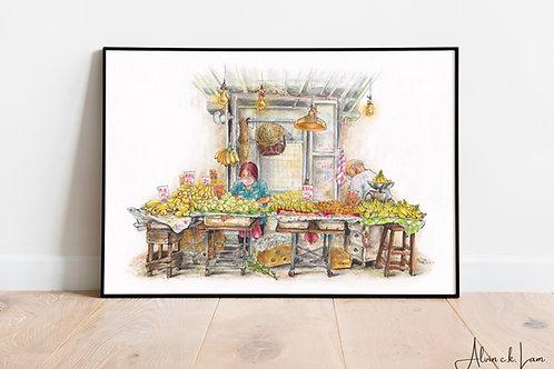 LIMITED PRINT | Wong's Banana Stall