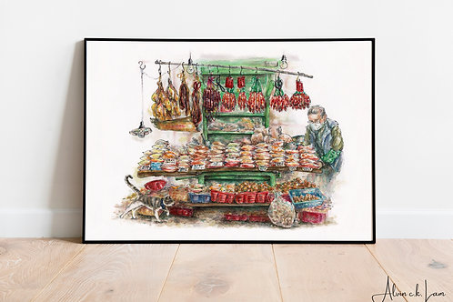 LIMITED PRINT | Wong's Dried Foods Stall