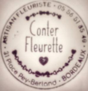 logo fleuriste conter fleurette