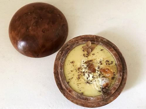 Bois d'oliver & citrine précieuse