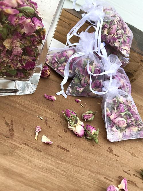 Sachet de roses parfum linge