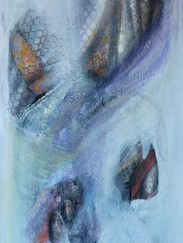The Silk Road - Osh, 40 x 120 cm, mixed media on canvas, 2016