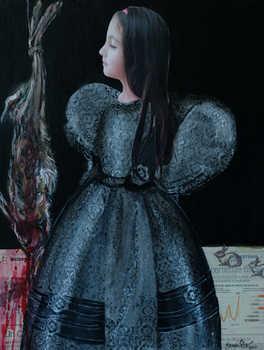 Innocence, on canvas, mix media, 50x60 cm, 2014