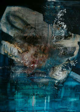 De Ijssel, 70x90cm, mixed media on canvas, 2019